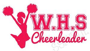Initial Wall Stickers highschool initials cheerleader cheer wall car vinyl decal