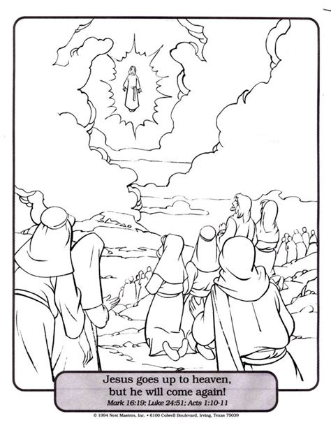 coloring pages ascension of jesus ascension coloring page coloring home