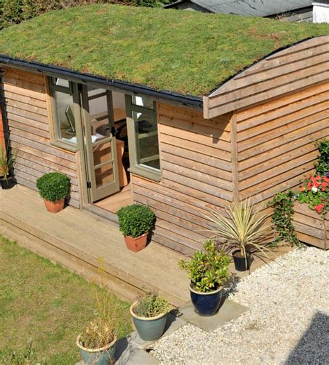 Garden Shed Roof by Backyard Workshop On Garden Office Green