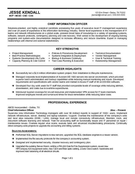 cio sle resume cio resume sle 28 images sle cio resume 28 images
