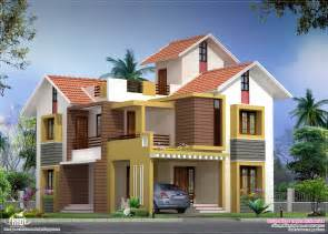 Home Design For 2000 Sq Ft Area 2000 Sq Feet Villa Floor Plan And Elevation House Design
