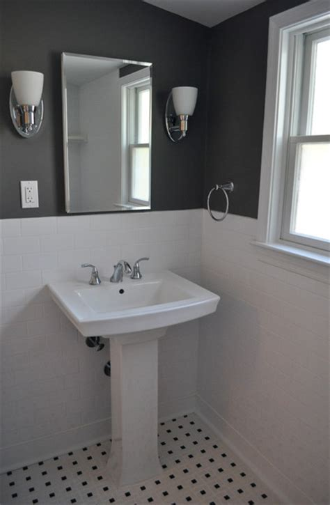 gray and white bathroom ideas pedestal sink traditional bathroom philadelphia by