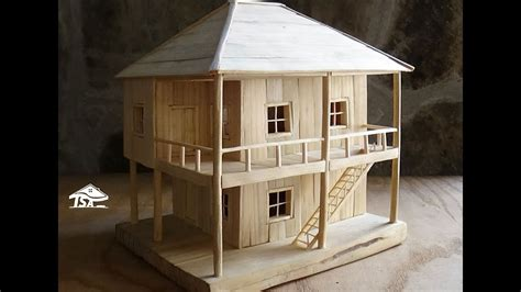 wood to build a house how to make a wooden model house youtube