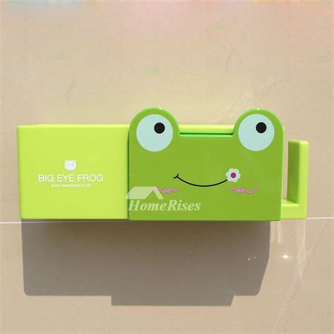 Frog Toothbrush Holder Green Intl animal toothbrush holder frog shaped green no drill