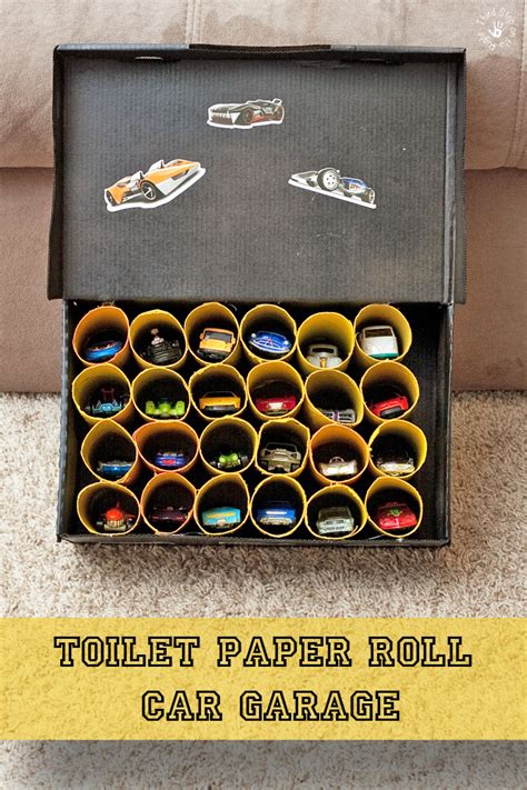 Garage Paper Roll by Create A Car Garage Out Of Toilet Paper Rolls Third