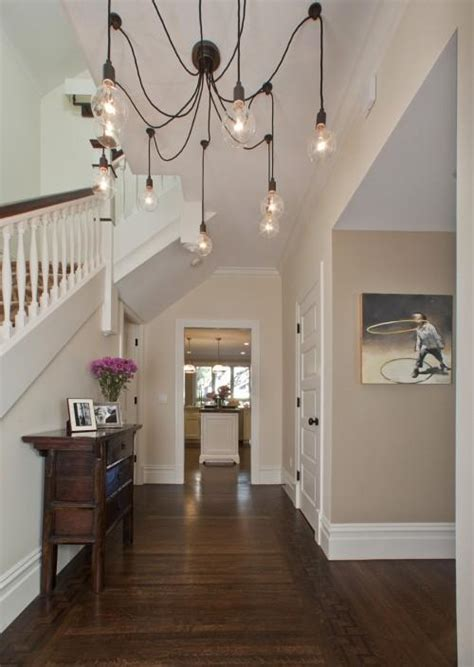 cafe au lait paint color contemporary entrance foyer benjamin alexandria beige
