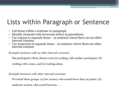 apa format listing items apa seriation dr gustafson ppt video online download