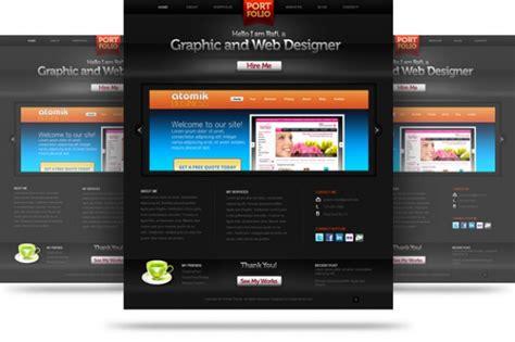 Creative Portfolio Website Psd Template Psd File Free Creative Portfolio Website Templates