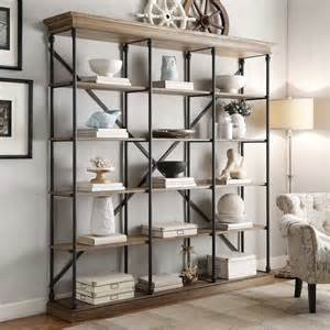 industrial looking bookshelves barnstone cornice shelving bookcase by signal