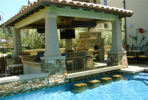 outdoor kitchen pool ideas outdoor pool and kitchen pinpoint