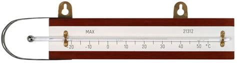 Thermometer Solid Stem solid stem maximum screen thermometer with wood back