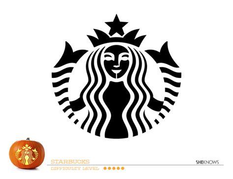 starbucks template starbucks logo pumpkin carving template free printable