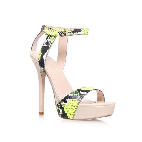 yellow high heel sandals carvela kurt geiger gown high heel strappy sandals in