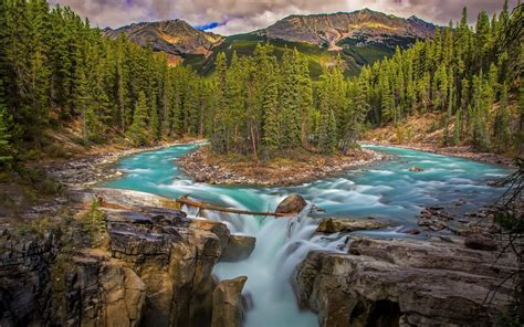 river waterfall hd wallpaper background image