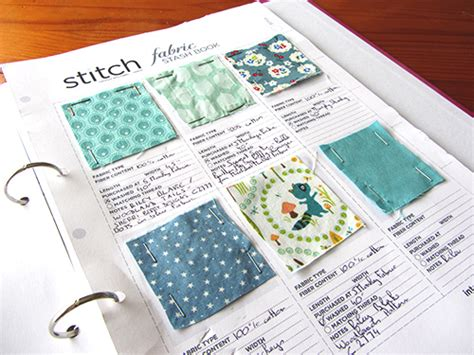 Fabric Organisation 2 Swatch Book La Creature And You Fabric Swatch Book Template