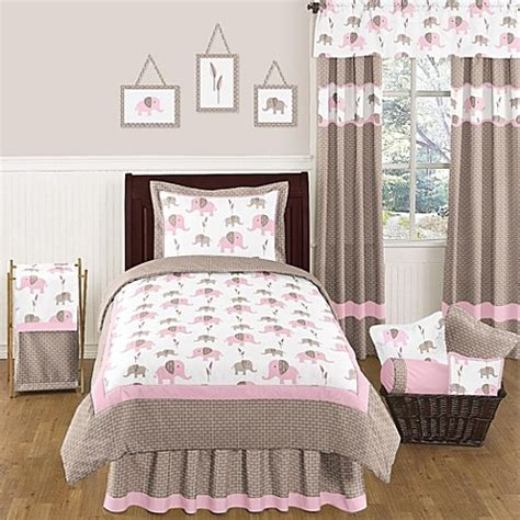 Elephant Bedroom Set by Sweet Jojo Designs Mod Elephant Comforter Set In Pink