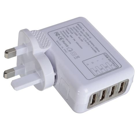 Charger Led Travel Usb 4 6 usb port ac adapter us eu uk au wall charger led portable home travel