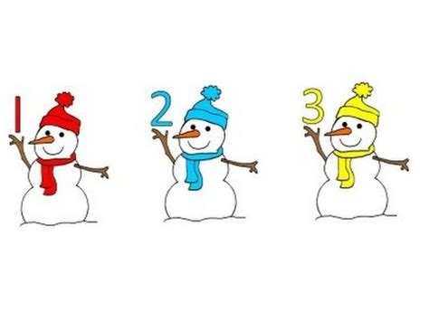 count the snowmen    in spanish too teach & learn
