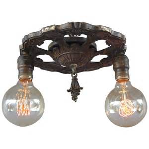 antique 1920s two light ceiling mount light fixture at 1stdibs