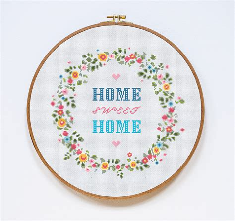 home patterns home sweet home cross stitch pattern home modern cross stitch