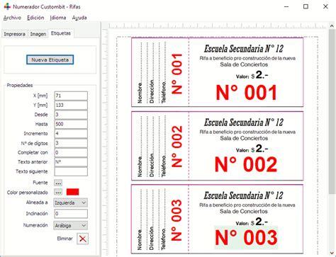 descargar formatos para crear boletos rifa gratis programa numerador para imprentas descarga gratis