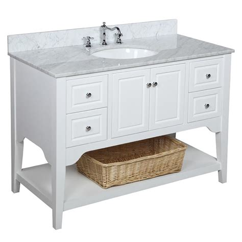 48 Inch Bathroom Vanity White Washington 48 Inch Vanity Carrara White Kitchenbathcollection