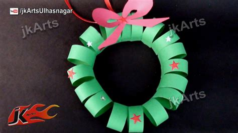 how to make christmas paper wreath easy craft for kids jk