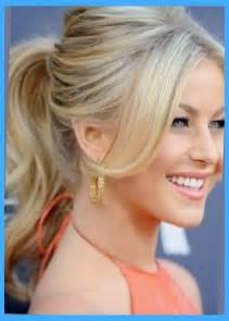 haircuts for professional 50 with a the most stylish side bang with ponytail regarding comfy