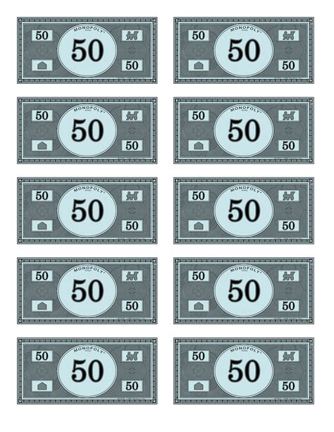Printable Monopoly Money Template by Monopoly Money Template Beepmunk