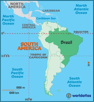brazil south america map brazil latitude longitude absolute and relative