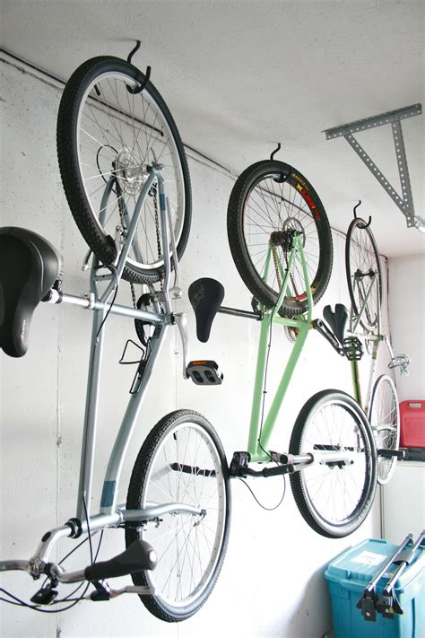 how to hang bicycles from the ceiling hang bikes in the garage check green diy