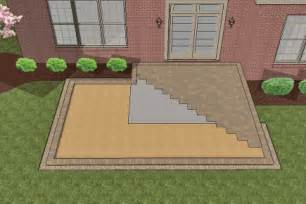 how to install larger paver patio smaller existing