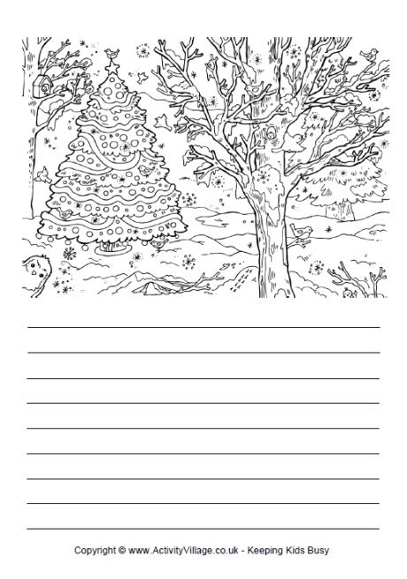 tree writing paper free tree lined paper printable new calendar
