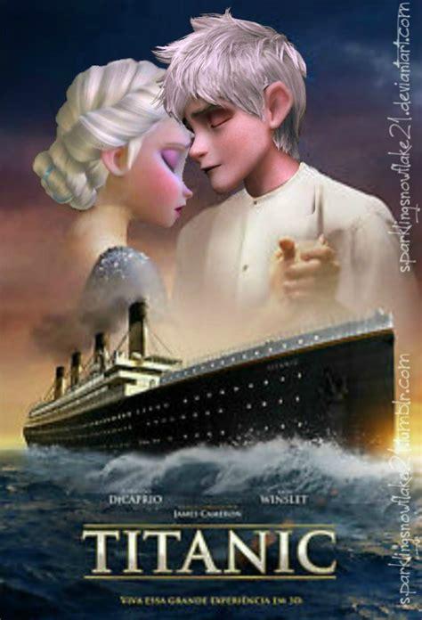 film elsa e jack frost titanic jack frost and elsa by sparklingsnowflake21 on