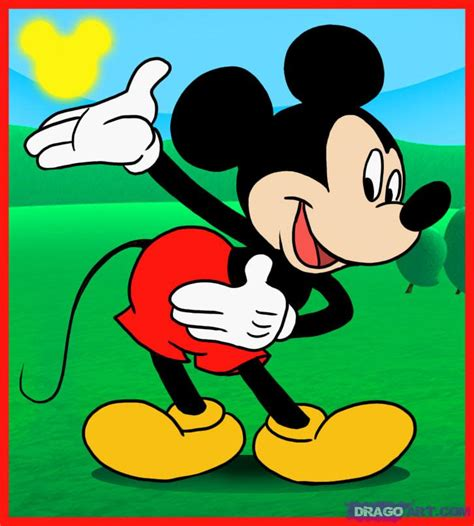 tutorial gambar mickey mouse learn how to draw mickey mouse disney characters