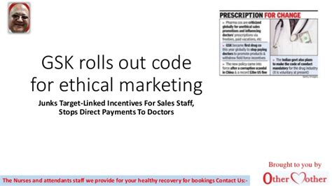 email format gsk gsk rolls out code for ethical marketing