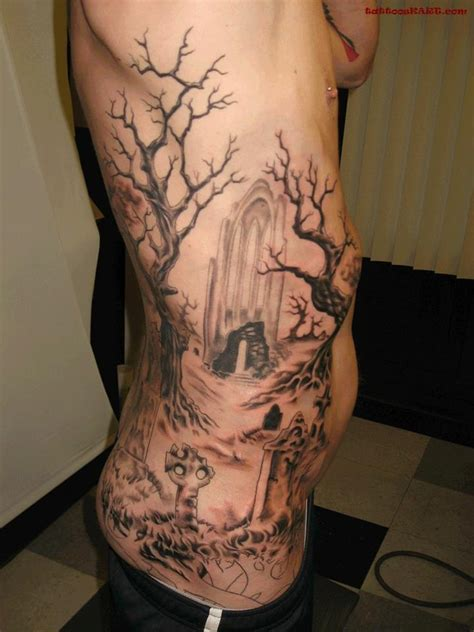 creepy tattoo ideas 42 impressive graveyard and cemetery designs for