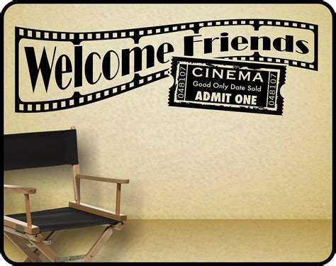home movie theater wall decor home theater wall decal sticker decor welcome by wallcrafters