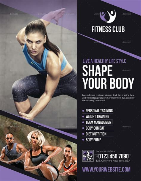10 Fitness Flyers Sle Templates Fitness Poster Template Free