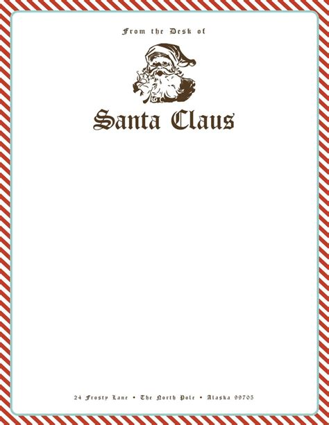 printable letters from santa stationary free santa stationery give your kids their very own