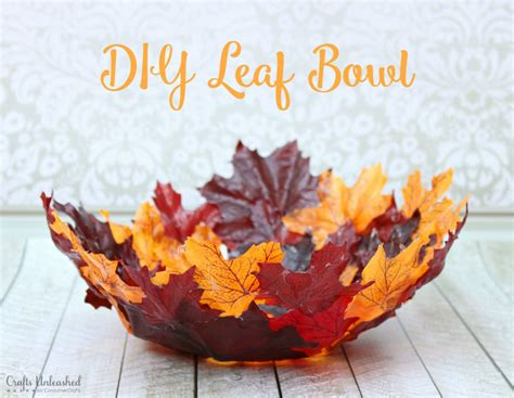 Home Button Decorations by Leaf Bowl Diy Craft Perfect For Fall Crafts Unleashed