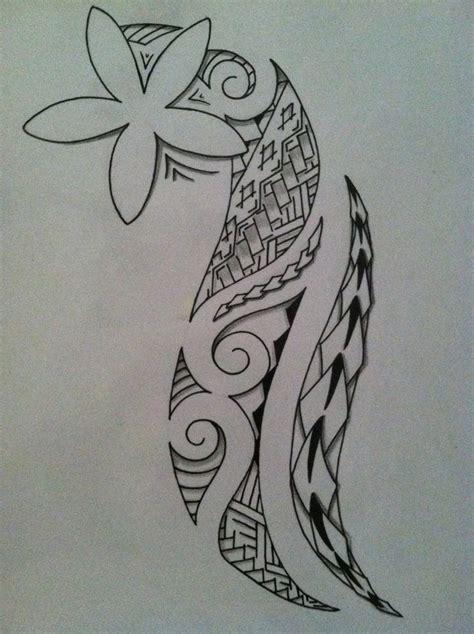 tribal plumeria tattoos plumeria tribal by 808user on deviantart
