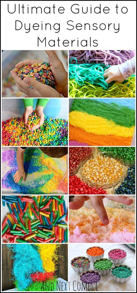 materials for sensory table sensory play guide how to dye sensory bin materials