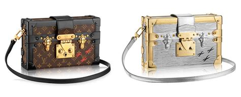 louis vuitton petite malle monogram  metallic bags