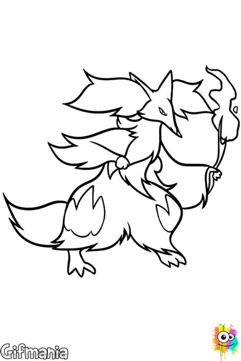 pokemon coloring pages delphox delphox coloring page