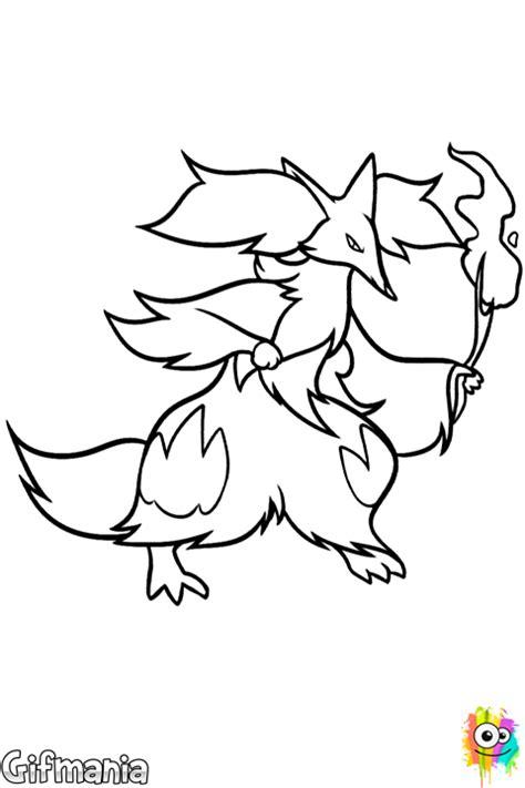 pokemon coloring pages delphox dibujo de delphox para colorear