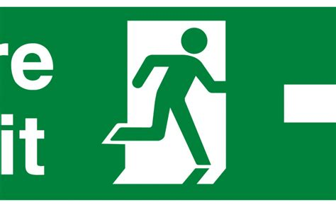 fire exit running man  high quality vector sign