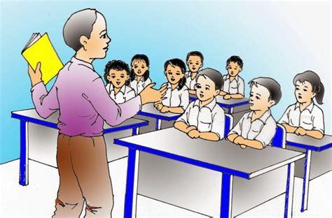 Belajar Mengajar proses belajar mengajar di kelas guru dan murid tertekan