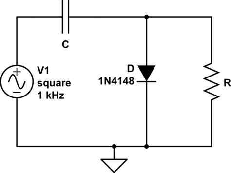 parallel resistor with diode ac why is there a voltage drop across the load resistor in an ideal diode cler circuit