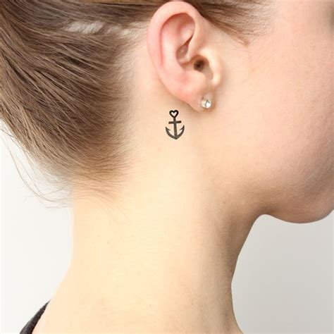 small heart tattoos behind ear 17 best ideas about anchor tattoos on small